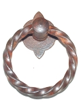 2040205RO French twist ring pull in French rust finish