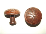 2060605RO French cast iron knob French rust finish