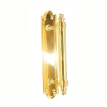 2862PB Polish Brass Offset  Door Handle & Plarte