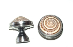 MP2059  Sundial Knob in antique nickel setting