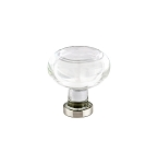 86399SN Clear crystal cabinet knob with satin nickel setting