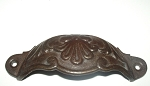 143RO French cast iron cup pull  in Custom dark rust finish